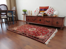 Red Persian wool carpet