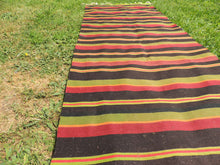 Striped Turkish runner retro kilim - bosphorusrugs  - 4