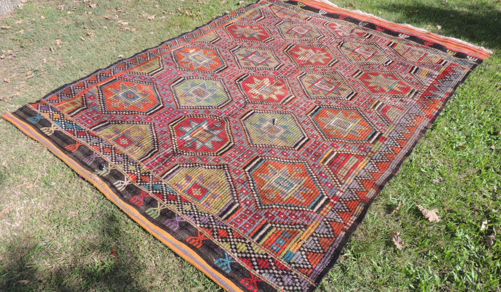 Colorful Embroideried jijim Kilim Sele ndi - bosphorusrugs  - 1