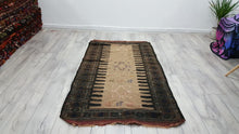 Semi Antique Tribal Beluch Kilim Rug Earthy Colours