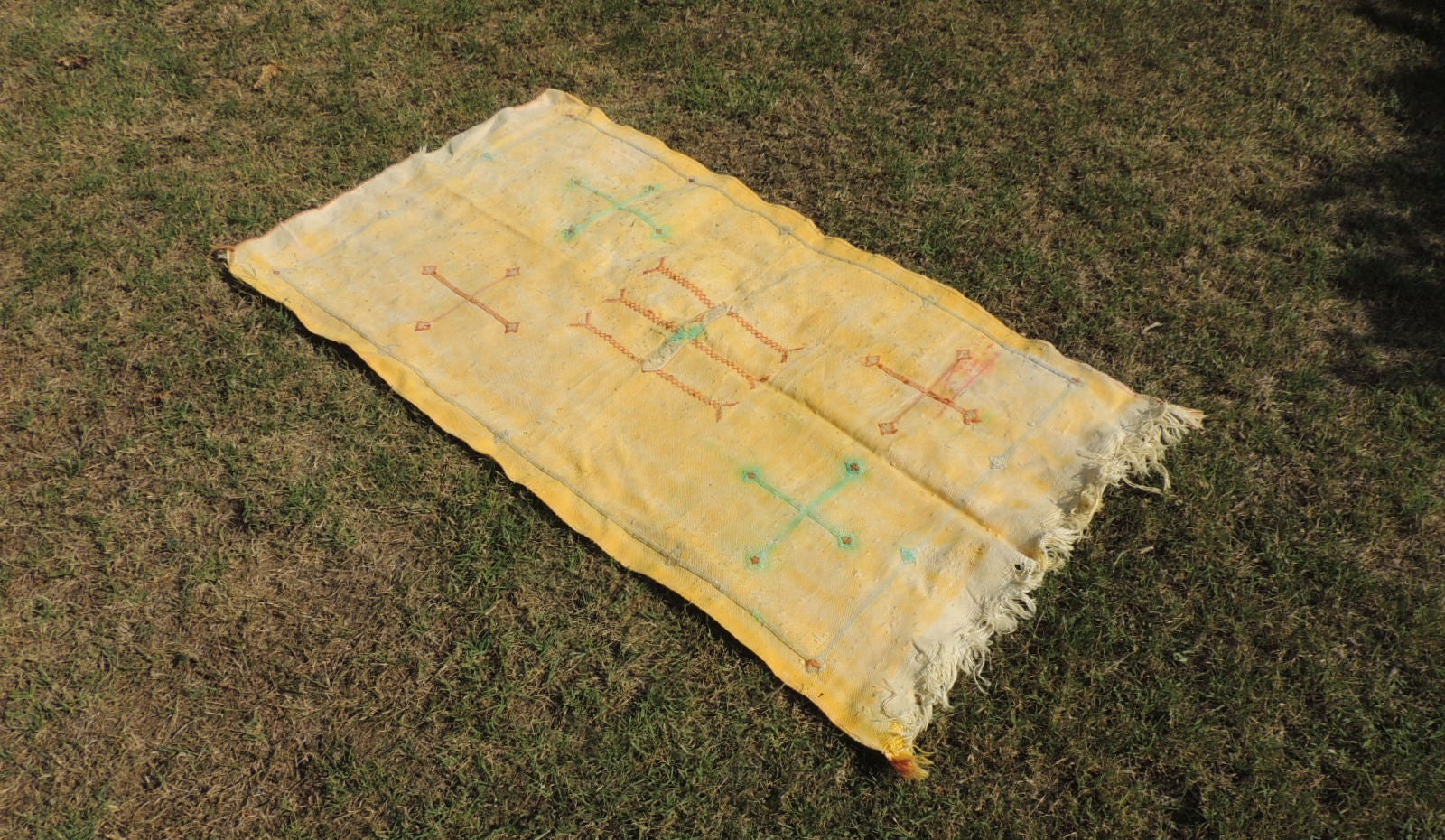 Yellow silk kilim rug - bosphorusrugs  - 1