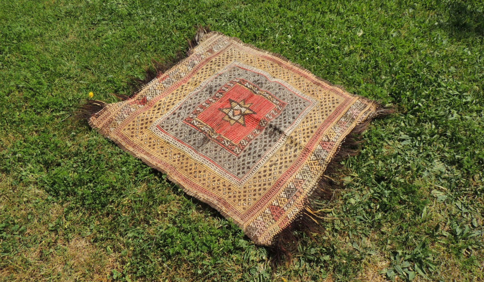 Square Turkish kilim