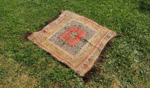 "Square Turkish kilim ""Sofrah"" - bosphorusrugs  - 1"