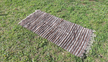 Striped Goat Hair kilim - bosphorusrugs  - 1