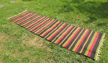 Striped Turkish runner retro kilim - bosphorusrugs  - 1