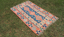 Turkish boho kilim rug - bosphorusrugs  - 1