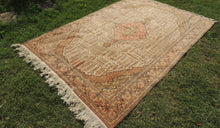 70's Decorative Turkish Area Rug with Earthy Tones