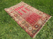 Antique wool Turkish carpet