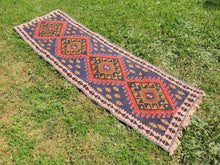 Navy Turkish Runner kilim - bosphorusrugs  - 3