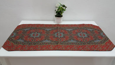 Turquoise and Red Decorative Runner