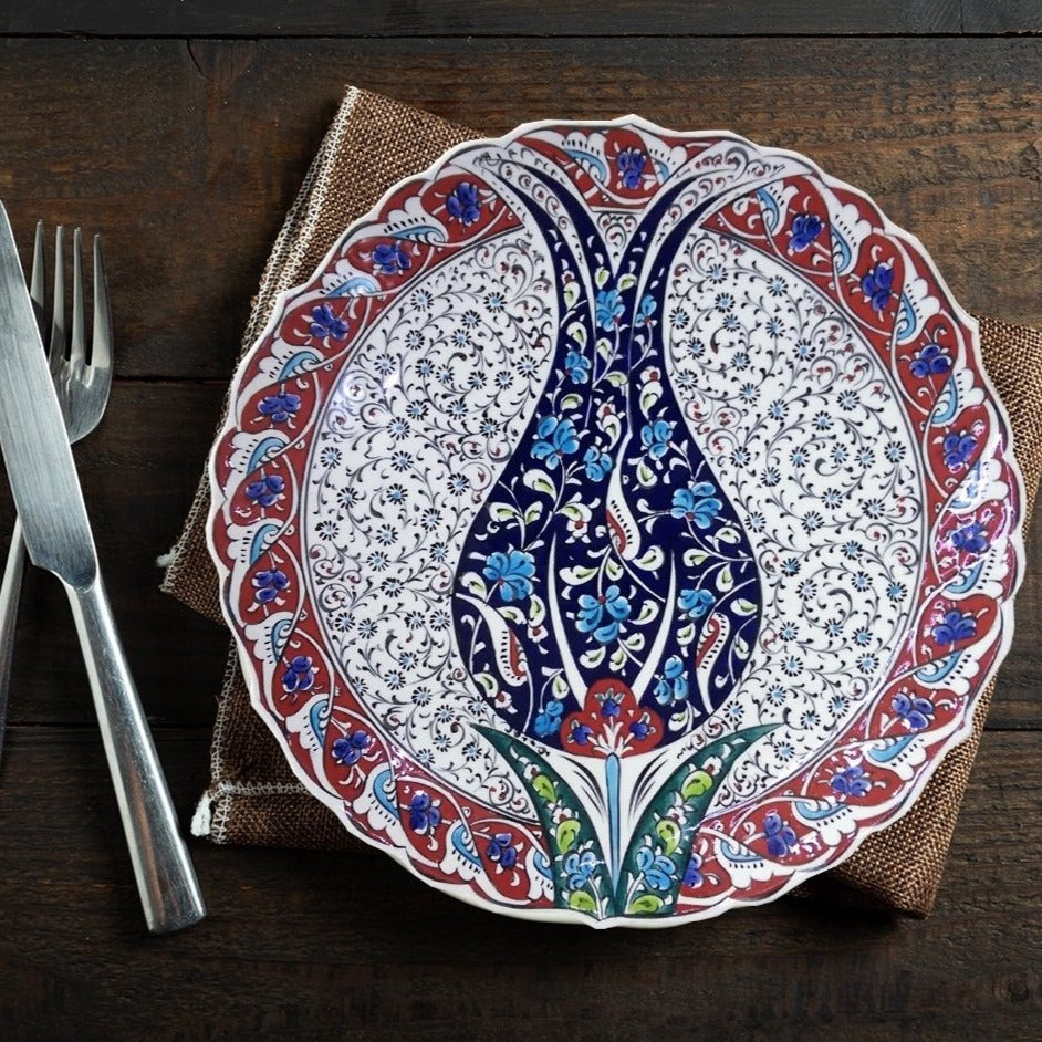 30 cm Hand Painted Ceramic Dinner Plate PL-3019