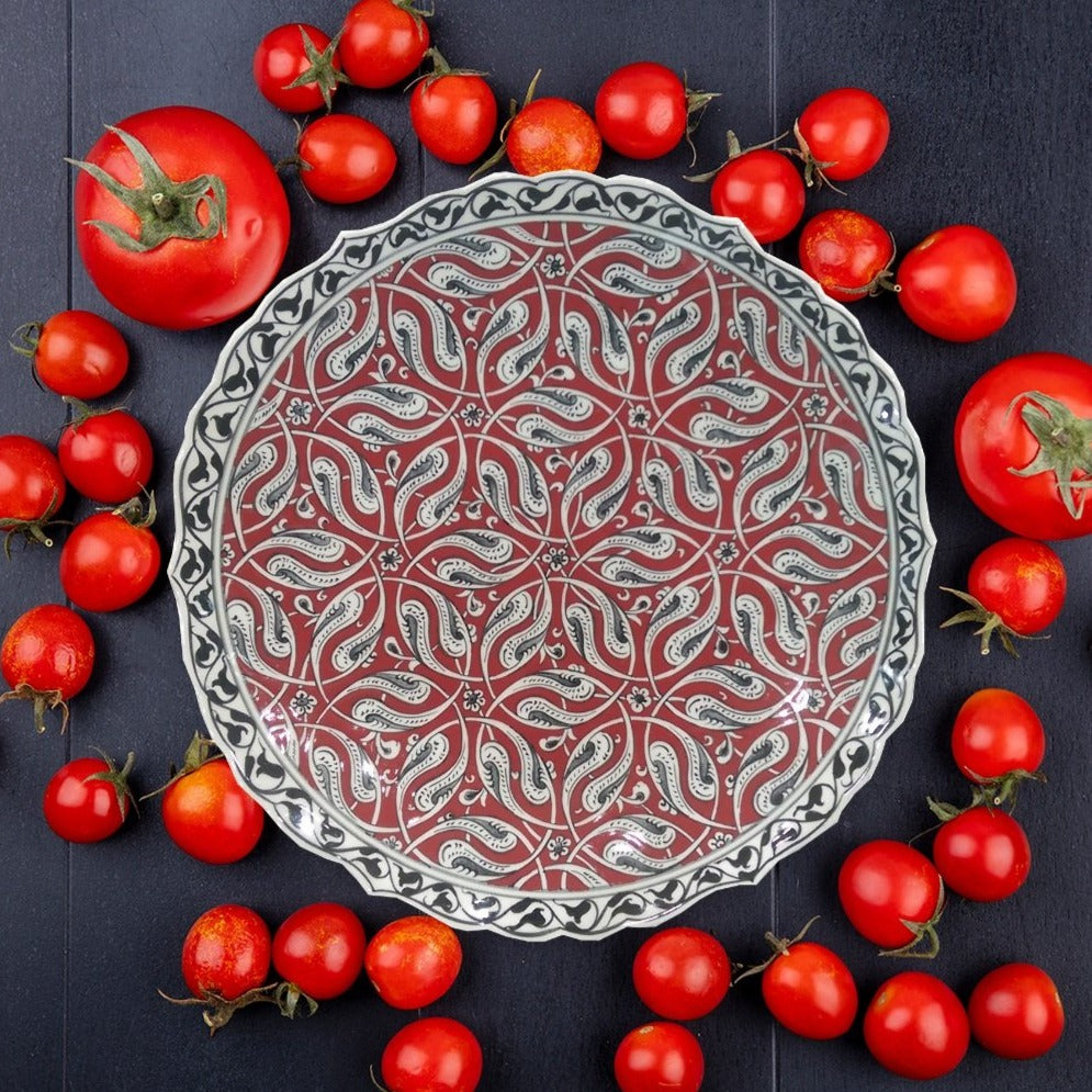 30 cm Hand Painted Ceramic Dinner Plate PL-3020