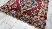 Vintage Burgundy Area Rug 3x5 ft Geometric Carpets