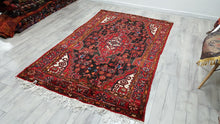 Vintage Persian Area Rug Meaty Wool Carpet Afshar Rug