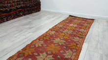 Vintage Turkish Runner Kilims 2x7 feet Bohemian Kilim Rugs