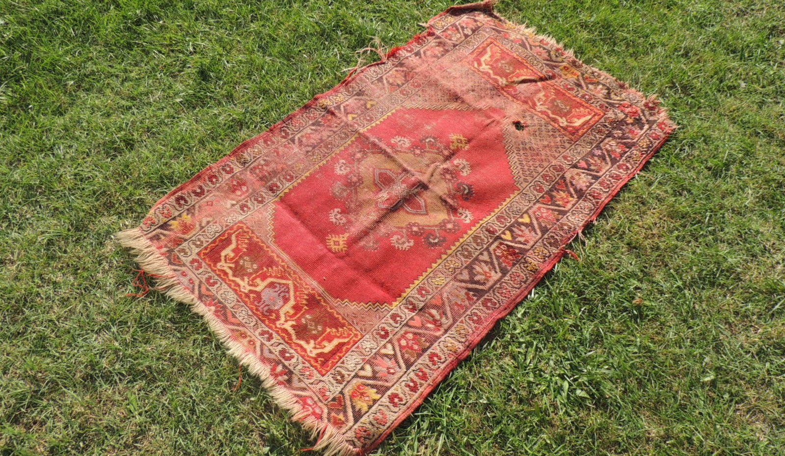 Hand knotted Antique Turkish rug ON SALE - bosphorusrugs  - 1