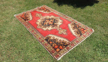 Vintage Turkish Area rug with low piles - bosphorusrugs  - 1