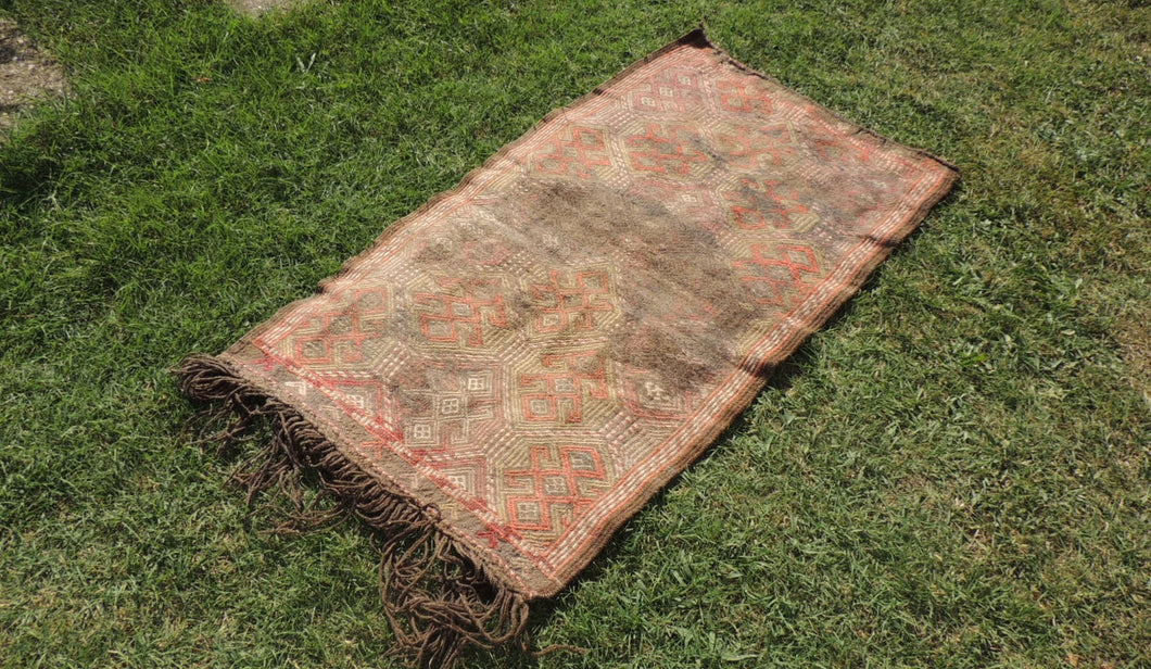 Antique Earty Colored Nomadic Turkish Kilim Rug - bosphorusrugs  - 1