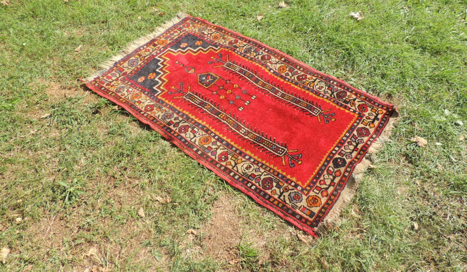 Circa 1960's Red Turkish Prayer Rug - bosphorusrugs  - 1