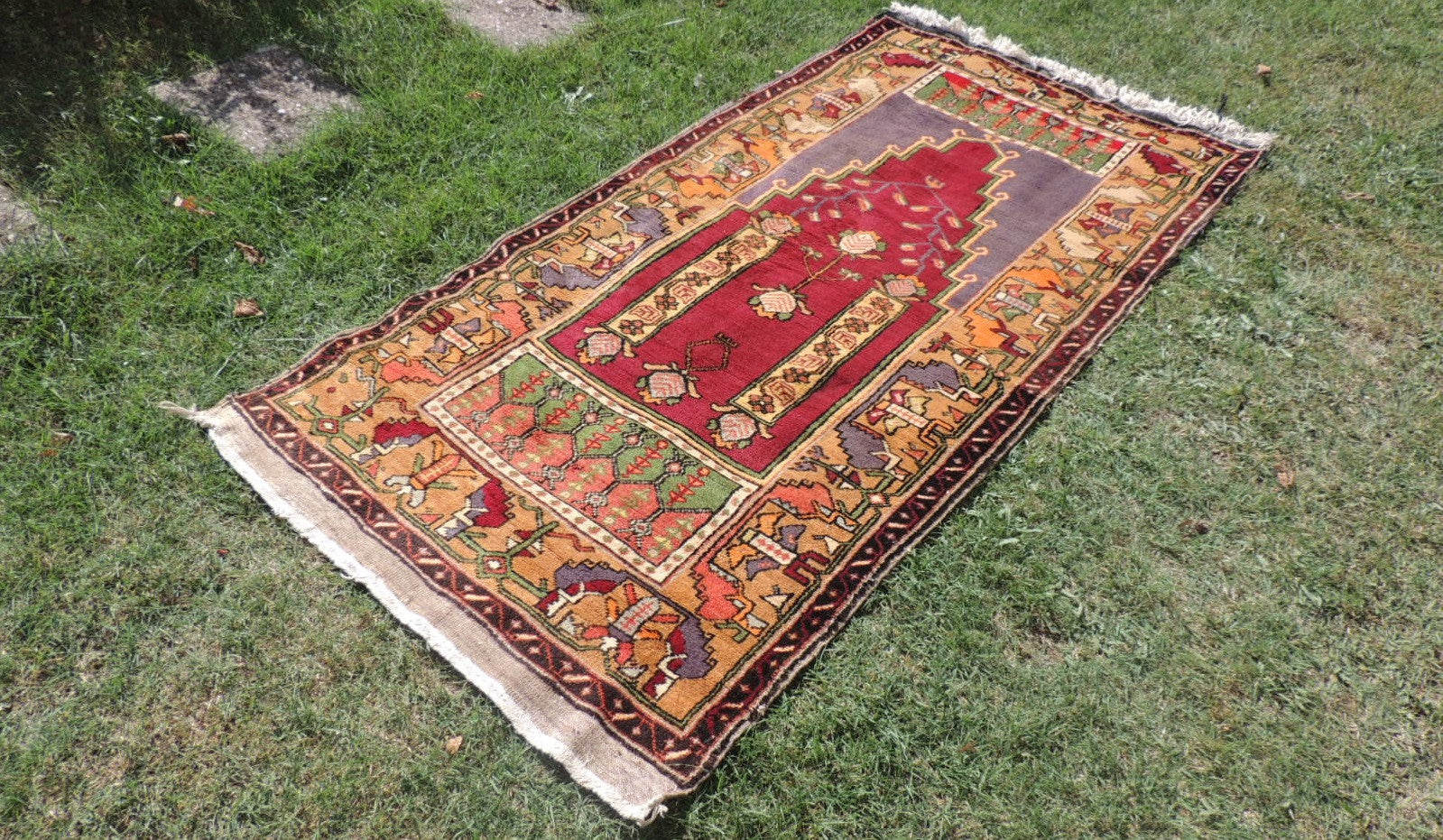 Beautiful Wool Turkish Prayer Rug - bosphorusrugs  - 1