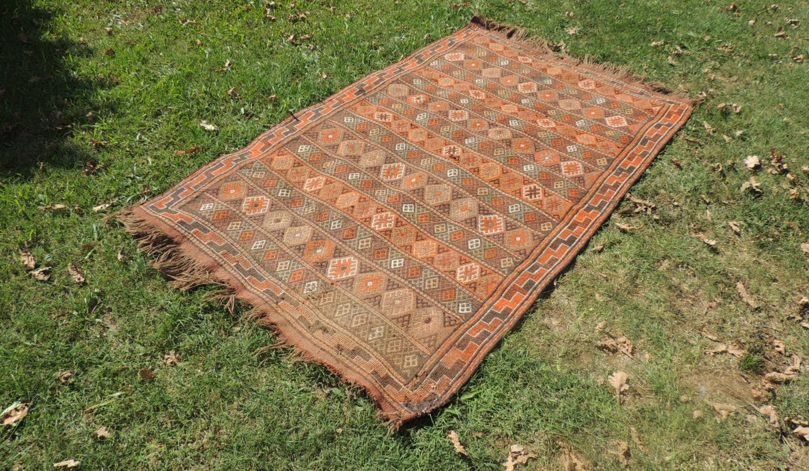 4x7 ft. Decorative Kilim Rug with Earthy Colors - bosphorusrugs  - 1