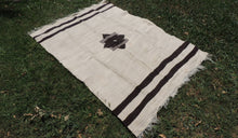 Undyed Natural Goat Hair kilim Rug Turkish Blanket