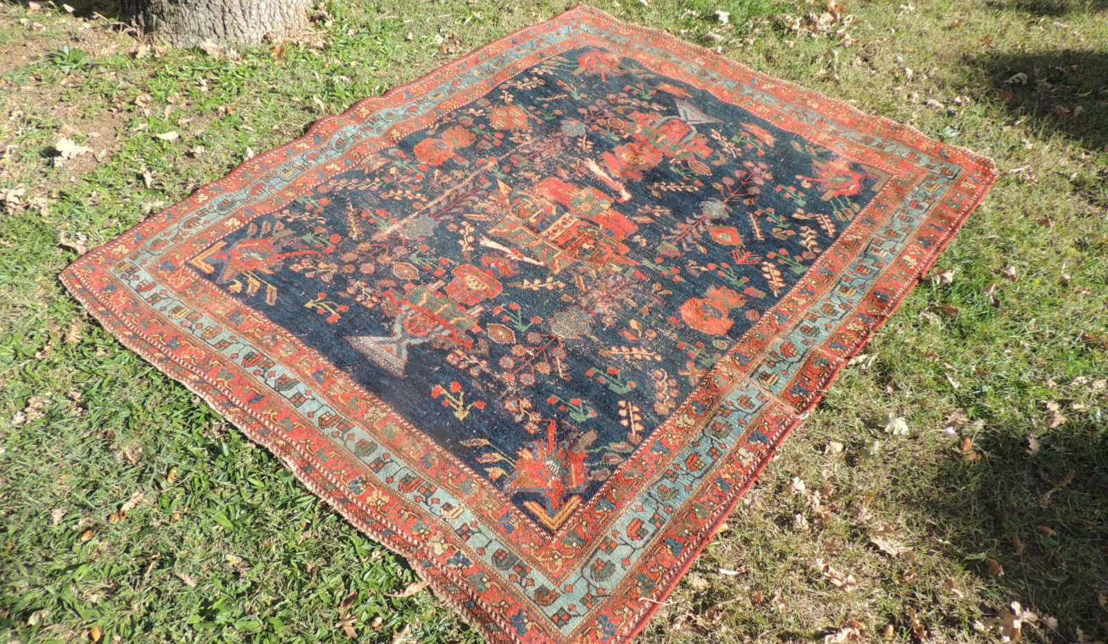 Antique Persian Afshari Carpet