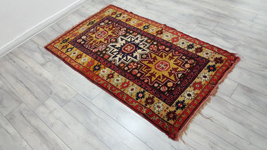 Amazing Caucasian Area Rug Collectible Carpet Work of Art 3,6x6 ft.