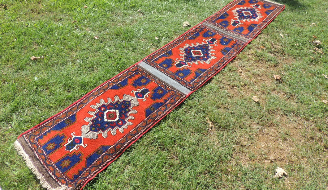 Extra Ordinary Turkish Runner made of 3 matching rugs