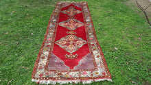 Antique Turkish Runner Red Color Kirsehir