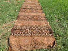 Tribal Bohemian Kilim Rug Made Out of a Nomadic Bag