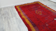 Antique Large Tulu Kilim Rug Red Beauty 5,7x8 ft.
