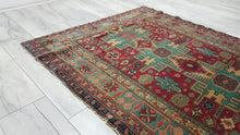 Turkish Kayseri Rug with Caucasian Geometric Design Manchester Wool