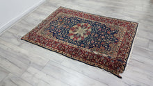 Oriental Persian Area Rug with Medallion Design