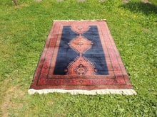 Silky navy Turkish area rug - bosphorusrugs  - 2