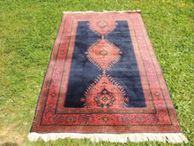 Silky navy Turkish area rug - bosphorusrugs  - 3