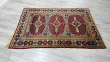 Antique Caucasian Carpet with Amazing Wool Quality