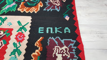 7,8x10,8 ft. Large Balkan Kilim Rug Floral State of The Art