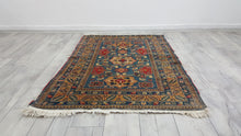 Antique Geometrical Caucasian Area Rug Kazakh