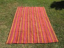 Turkish Nomad Kilim Pink Stripes