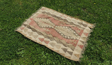 "Vintage Turkish kilim ""coffee"" - bosphorusrugs  - 1"
