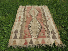 "Vintage Turkish kilim ""coffee"" - bosphorusrugs  - 4"