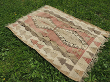 "Vintage Turkish kilim ""coffee"" - bosphorusrugs  - 3"