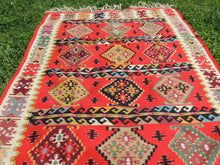 Red Balkan kilim rug - bosphorusrugs  - 3