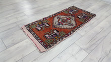 Orange Turkish Rug 1,6x3,6 ft.