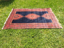 "Navy Turkish area rug ""Burdur"" - bosphorusrugs  - 2"
