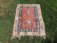 Lovely Geometrical Turkish Aegean Kilim Rug Nursery Kilim