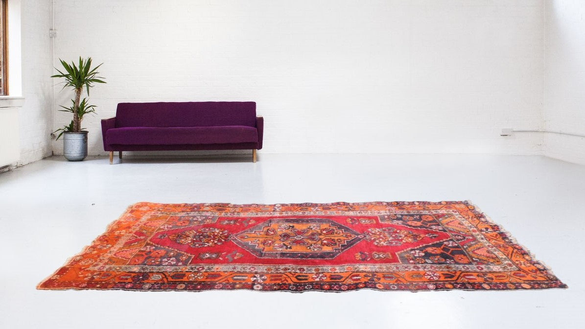 Turkish pile rug from Central Anatolia