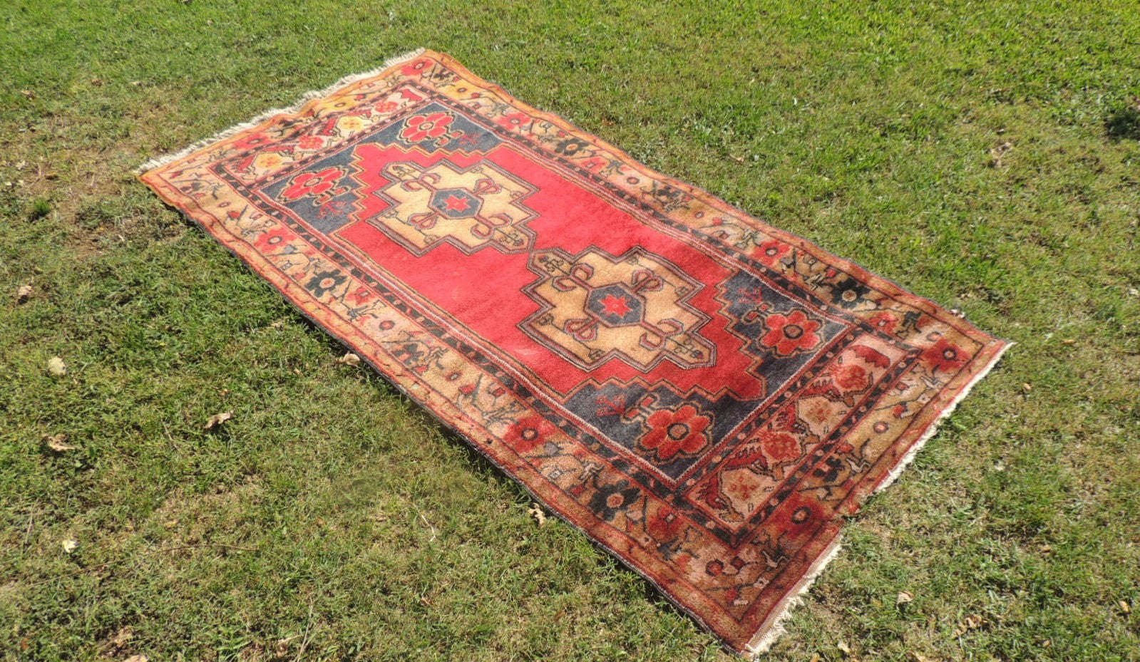 4x7 feet Vintage Anatolian Area Rug On Sale