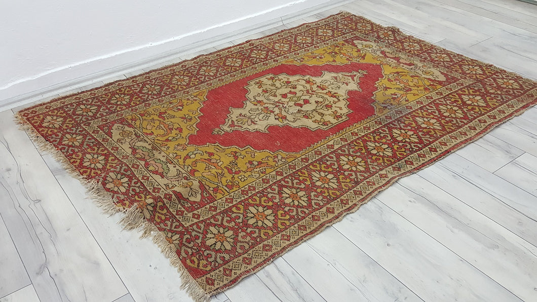 Vintage Hand Knotted Anatolian carpet